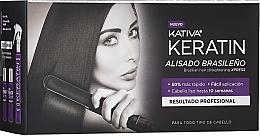 Parfums et Produits cosmétiques Kativa Keratin - Set (shampooing/35ml + après-shampooing/35ml + mask pour cheveux/100ml)