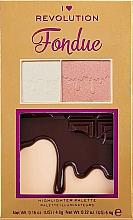Parfums et Produits cosmétiques Palette d'enlumineurs - I Heart Makeup Revolution Highlighter Palette Chocolate Fondue