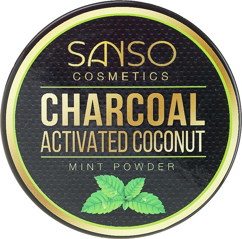 Poudre dentaire à l'huile de menthe et charbon actif de coco - Sanso Cosmetics Charcoal Activated Coconut Mint Powder