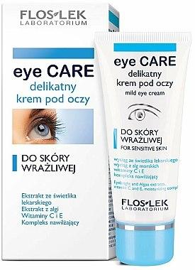 Crème à l'extrait d'algues et vitamines pour contour des yeux - Floslek Eye Care Mild Eye Cream For Sensitive Skin