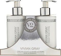 Parfums et Produits cosmétiques Vivian Gray White Crystals Set - Set (savon crème liquide/250ml + lotion pour mains/250ml)