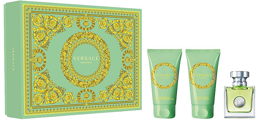 Versace Versense - Coffret (eau de toilette/50ml + lotion corporelle/50ml + gel bain et douche/50ml)