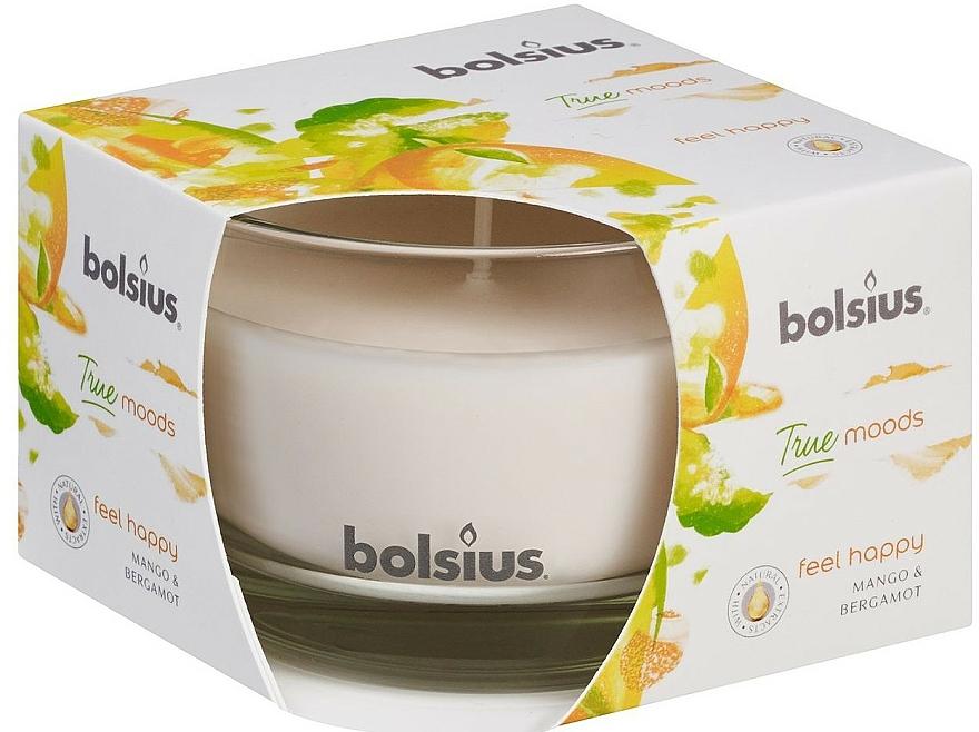 Bougie parfumée en verre, Mangue et Bergamote, 63/90 mm - Bolsius True Moods Candle — Photo N2