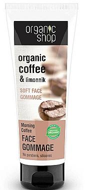 Gommage au café et citronnelle pour visage - Organic Shop Gommage Face