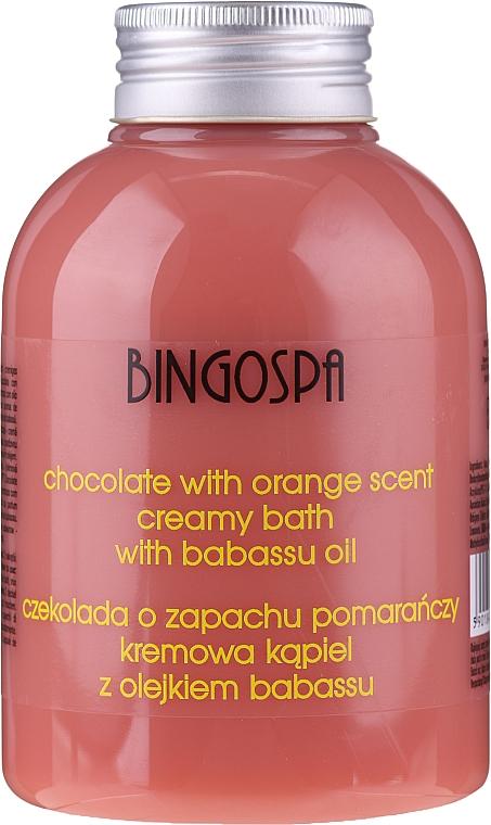 Crème de douche au chocolat et orange - BingoSpa Creamy Chocolate Bath With Orange Oil