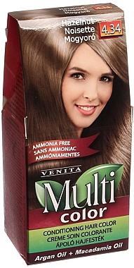 Crème colorante sans ammoniaque à l'huile d'argan et de macadamia pour cheveux - Venita Multi Color