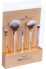 Parfums et Produits cosmétiques Kit pinceaux de maquillage, 38303, 5pcs - Top Choice Make Up Top Metallic