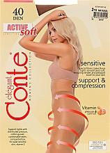Parfums et Produits cosmétiques Collant pour femme, Active Soft, 40 Den, natural - Conte