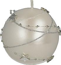 Parfums et Produits cosmétiques Bougie décorative blanche, 8 cm - Artman Christmas Garland