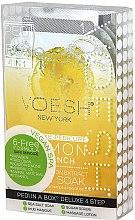 Parfums et Produits cosmétiques Soin et modelage des pieds au citron - Voesh Pedi In A Box Deluxe Pedicure Lemon Quench (35 g)