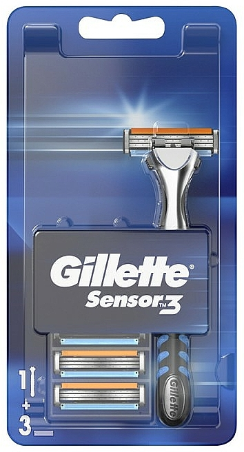 Rasoir avec 3 lames de rechange - Gillette Sensor 3