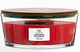 Parfums et Produits cosmétiques Bougie parfumée en jarre avec mèche en bois, Baies pourpres - WoodWick Ellipse Scented Candle Crimson Berries
