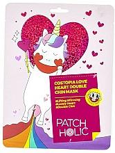 Parfums et Produits cosmétiques Masque à l'extrait de cerisier du Japon pour la zone du menton - Patch Holic Costopia Love Heart Double Chin Mask