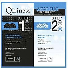 Parfums et Produits cosmétiques Patchs détoxifiants au charbon pour le nez en 2 étapes - Qiriness Purifiant Nez 2-Step Nose Patches