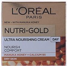 Parfums et Produits cosmétiques Crème de jour au calcium B5 et miel de Manuka - L'Oreal Paris Nutri Gold Day Cream