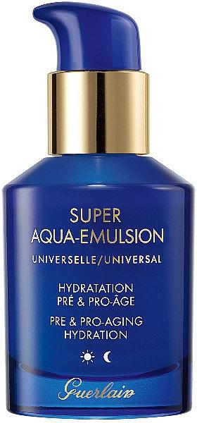 Émulsion anti-âge à l'huile de graines de pin blanc du Japon pour visage - Guerlain Super Aqua Universal Emulsion — Photo N1