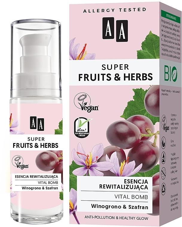 Essence au beurre de karité pour visage - AA Super Fruits & Herbs Vital Bomb — Photo N1