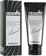 Parfums et Produits cosmétiques Mousse nettoyante à la bave d'escargot pour visage - FarmStay Black Snail Deep Cleansing Foam