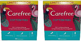 Parfums et Produits cosmétiques Protège-slips, 2x56pcs - Carefree Cotton Feel