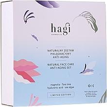 Parfums et Produits cosmétiques Hagi Natural Face Care Anti-aging Set - Coffret (crème pour visage/30ml + élixir pour visage/30ml)
