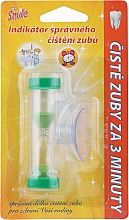 Parfums et Produits cosmétiques Sablier ventouse pour le brossage des dents, vert - VitalCare White Pearl Smile Indicator Proper Toothbrushing