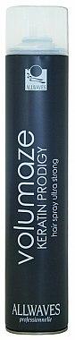 Laque fixation ultra forte - Allwaves Volumaze Keratin Prodigy Hair Spray Ultra Strong
