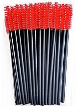 Parfums et Produits cosmétiques Goupillons en nylon pour cils, noir-rouge - Novalia Group