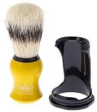 Parfums et Produits cosmétiques Blaireau de rasage avec support, 80265, jaune - Omega