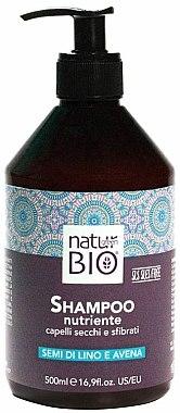 Shampooing aux graines de lin et avoine - Renee Blanche Natur Green Bio Illuminante Shampoo — Photo N1