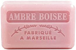 Parfums et Produits cosmétiques Savon végétal de Marseille, Ambre boisé - Foufour Savonnette Marseillaise Ambre Boisee