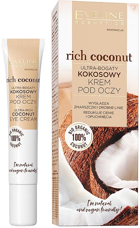 Crème à la noix de coco bio pour contour des yeux - Eveline Cosmetics Rich Coconut Eye Cream
