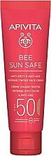Parfums et Produits cosmétiques Apivita Bee Sun Safe Anti-Spot & Anti-Age Defense Tinted Face Cream SPF 50 - Crème solaire teintée pour visage