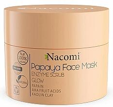 Parfums et Produits cosmétiques Masque exfoliant à l'argile blanche pour visage - Nacomi Papaya Face Mask Enzyme Scrub
