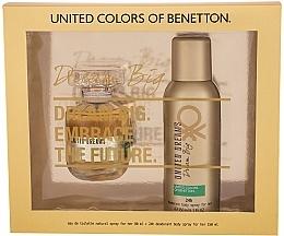 Parfums et Produits cosmétiques Benetton United Dreams Dream Big For Her - Set (eau de toilette/80ml + déodorant spray/150ml)