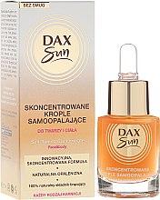 Parfums et Produits cosmétiques Autobronzant concentré en gouttes pour le visage et le corps - Dax Sun Self-tanning Concentrated Drops