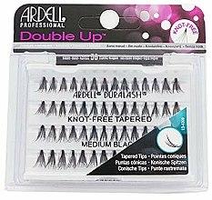 Parfums et Produits cosmétiques Faux-cils individuels moyens noirs, 56 pcs - Ardell Double Up Soft Touch Knot- Free Medium Black
