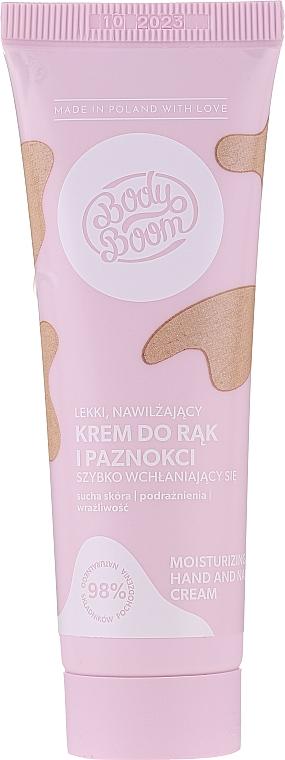 Crème à l'huile d'avocat pour mains et ongles - Bielenda Bodyboom Moisturizing Hand Cream