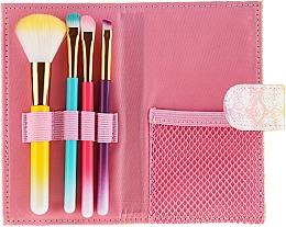 Parfums et Produits cosmétiques Kit pinceaux de maquillage avec étui, multicolore, 4 pcs - Avon