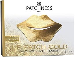 Parfums et Produits cosmétiques Patchs anti-ridules au collagène et extrait d'or pour contour des lèvres, 5 pcs - Patchness Lip Patch Gold