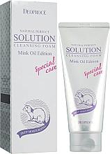 Parfums et Produits cosmétiques Mousse nettoyante à l'huile de vison pour visage - Deoproce Natural Perfect Solution Cleasing Foam Mink Oil