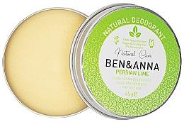 Parfums et Produits cosmétiques Déodorant crème naturel, Lime persan - Ben & Anna Persian Lime Soda Cream Deodorant