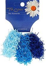 Parfums et Produits cosmétiques Élastiques à cheveux, 3 pcs, bleu, 21695 - Top Choice