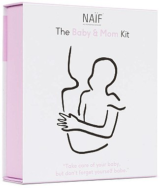Naif Baby & Mom Kit - Coffret(huile de bain/100ml + crème corps/75ml + -crème mains/75ml) — Photo N1