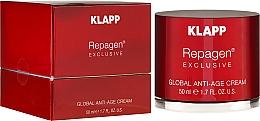 Crème anti-âge à la vitamine E pour visage - Klapp Repagen Exclusive Global Anti-Age Cream — Photo N1