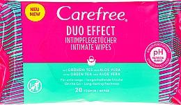 Parfums et Produits cosmétiques Lingettes d'hygiène intime à l'aloès - Carefree Duo Effect