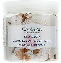 Parfums et Produits cosmétiques Sels de bain aromatiques aux feuilles de rose - Canaan Minerals & Herbs Aromatic Bath Salts With Rose Leaves