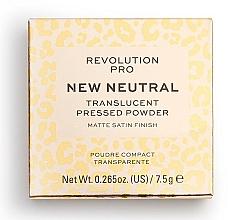Parfums et Produits cosmétiques Poudre compact transparente pour visage - Revolution Pro New Neutral Translucent Pressed Powder
