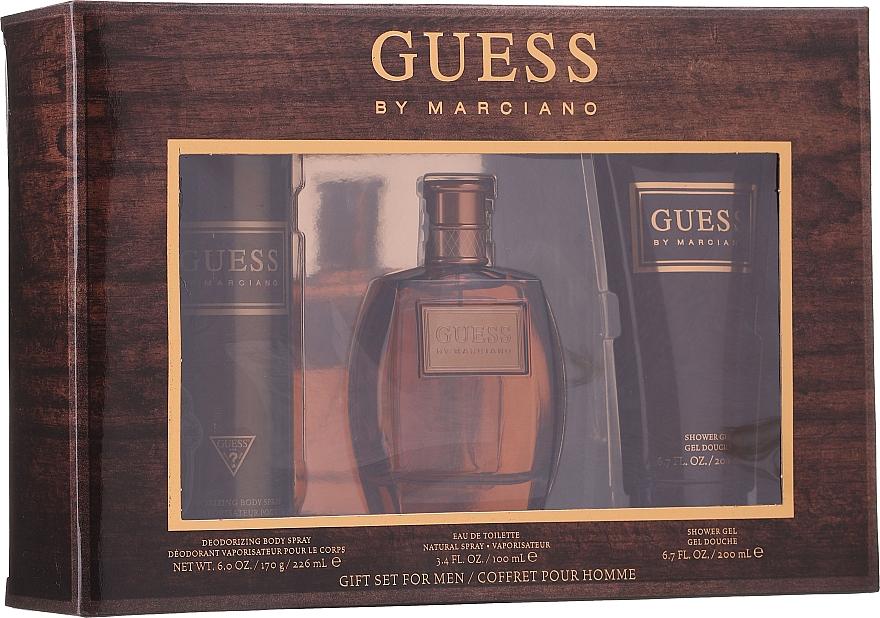 Guess by Marciano - Coffret (eau de toilette/100ml + gel douche/200ml + déodorant spray pour corps/226ml)