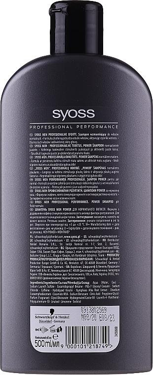 Shampooing fortifiant - Syoss Men Power  — Photo N2