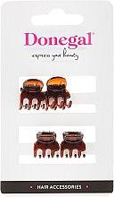 Parfums et Produits cosmétiques Pinces à cheveux mini FA-5819, marrons, 4 pcs - Donegal Hair Clip